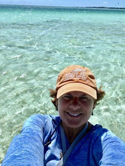 2017-3-17 selfie b dinghy sand bar