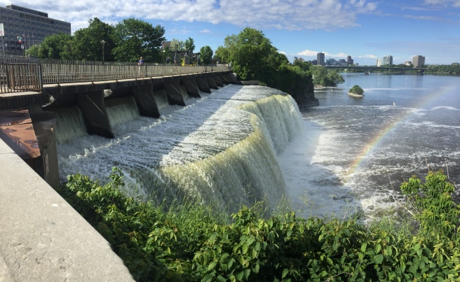 2017-6-26 falls rideau entering ottowa